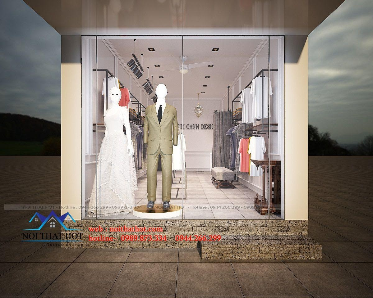 thiết kế shop thời trang may đo 2