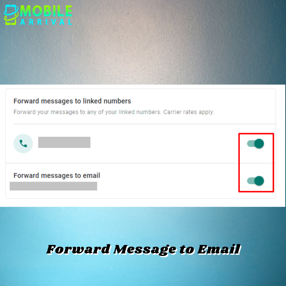 Forward Message to Email