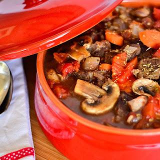 Hearty Beef and Mushroom Stew.