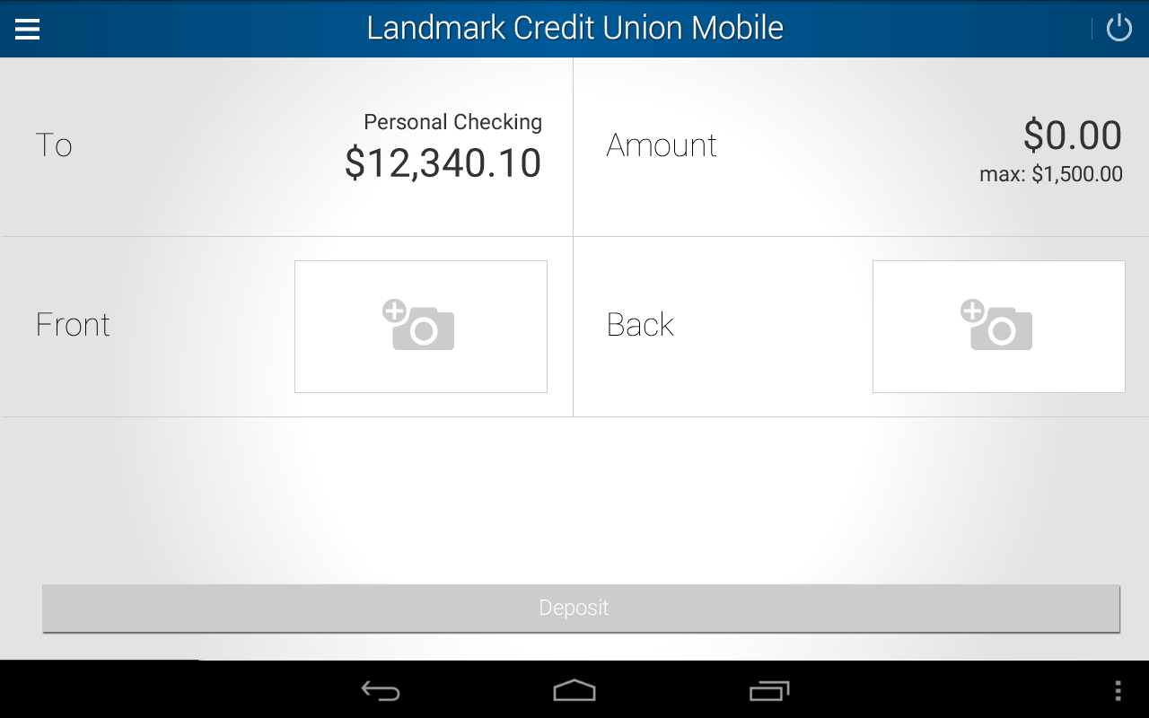 Landmark Credit Union Mobile- screenshot