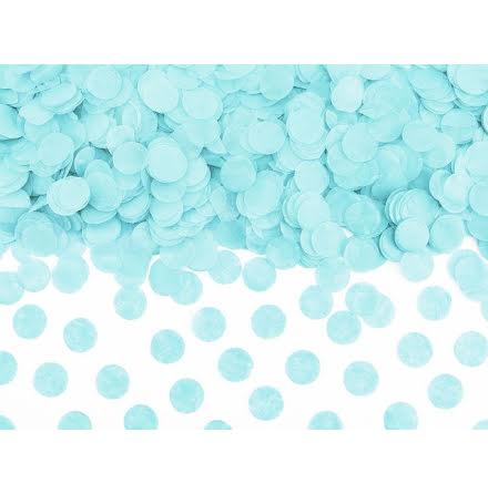 Papperskonfetti - ljus himmelsblå