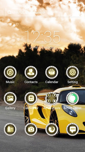 At full speed theme for APUS