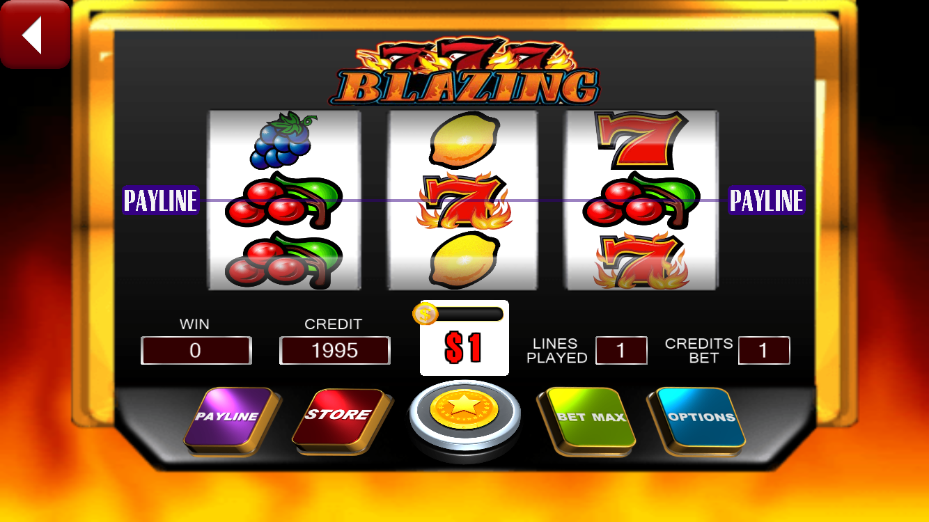 flaming 7 slot machine