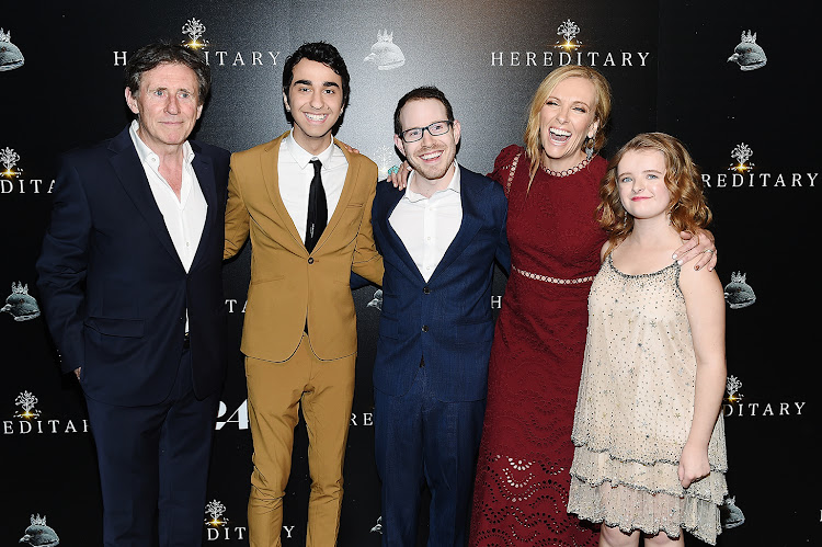 Ari Aster (middle) with 'Hereditary' cast