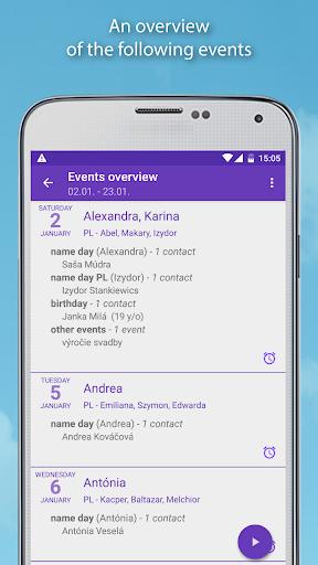 Name days Pro  screenshots 3