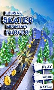 Subway Skater Mountain Surfer screenshot 0