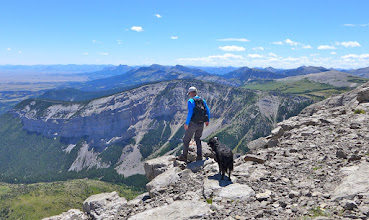 Photo: 2016 - Missy and I near the south end. you can see Sawtooth Ridge on the horizon (another icon of the Front).