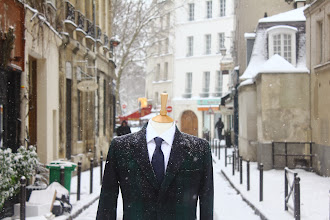 Photo: Nikhil, our Managing Director and designer explains our new AW13 collection. It's our biggest yet, by a long way, and made entirely from British cloth, in London.  http://bit.ly/1bVLXU7