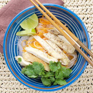 Vietnamese Lemongrass Chicken Rice Noodles.