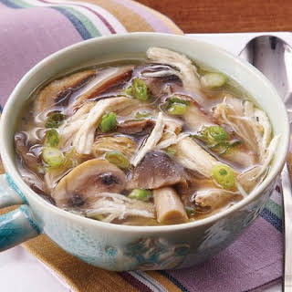 Slow-Cooker Asian Chicken and Mushroom Soup.
