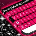 粉红色黑色键盘 icon