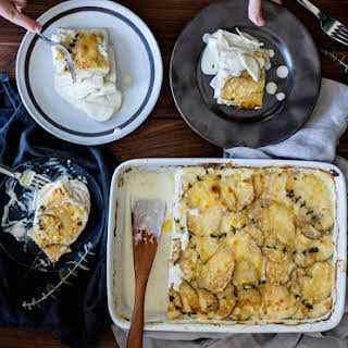 Crazy Feta Potatoes Au Gratin .