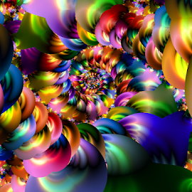 Spiral colorful by Cassy 67 - Illustration Abstract & Patterns ( digital, love, harmony, surreal, abstract art, trippy, spiral, abstract, creative, fractals, digital art, psychedelic, modern, light, fractal, style, colourful, energy, fashion )