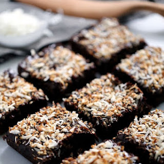Dark Chocolate Coconut Brownies