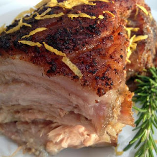 Luscious Pork Shoulder Porchetta Braised In Garlic, Lemon And Fennel