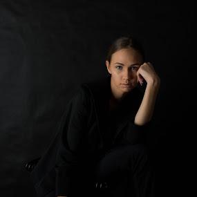 Zsofi by Máté Csöbönyei - People Portraits of Women