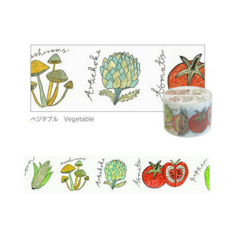 Vegetable by aimez le style mt washi masking tape