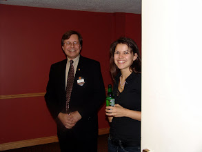 Photo: Greeters Mike Swayne and Elizabeth Liddy