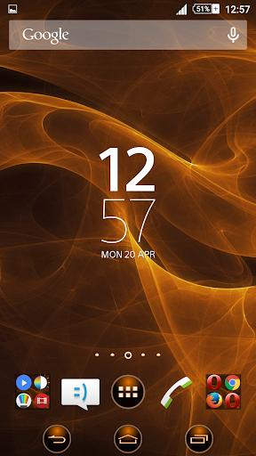 Orange Smoke Xperien Theme