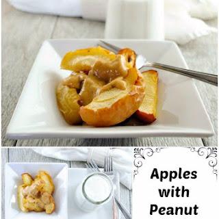 Roasted Apple Dessert with Peanut and Honey Sauce.