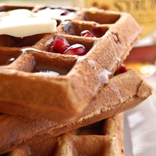 Gingerbread Pomegranate Waffles.