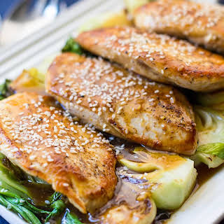 Skillet Chicken with Baby Bok Choy.