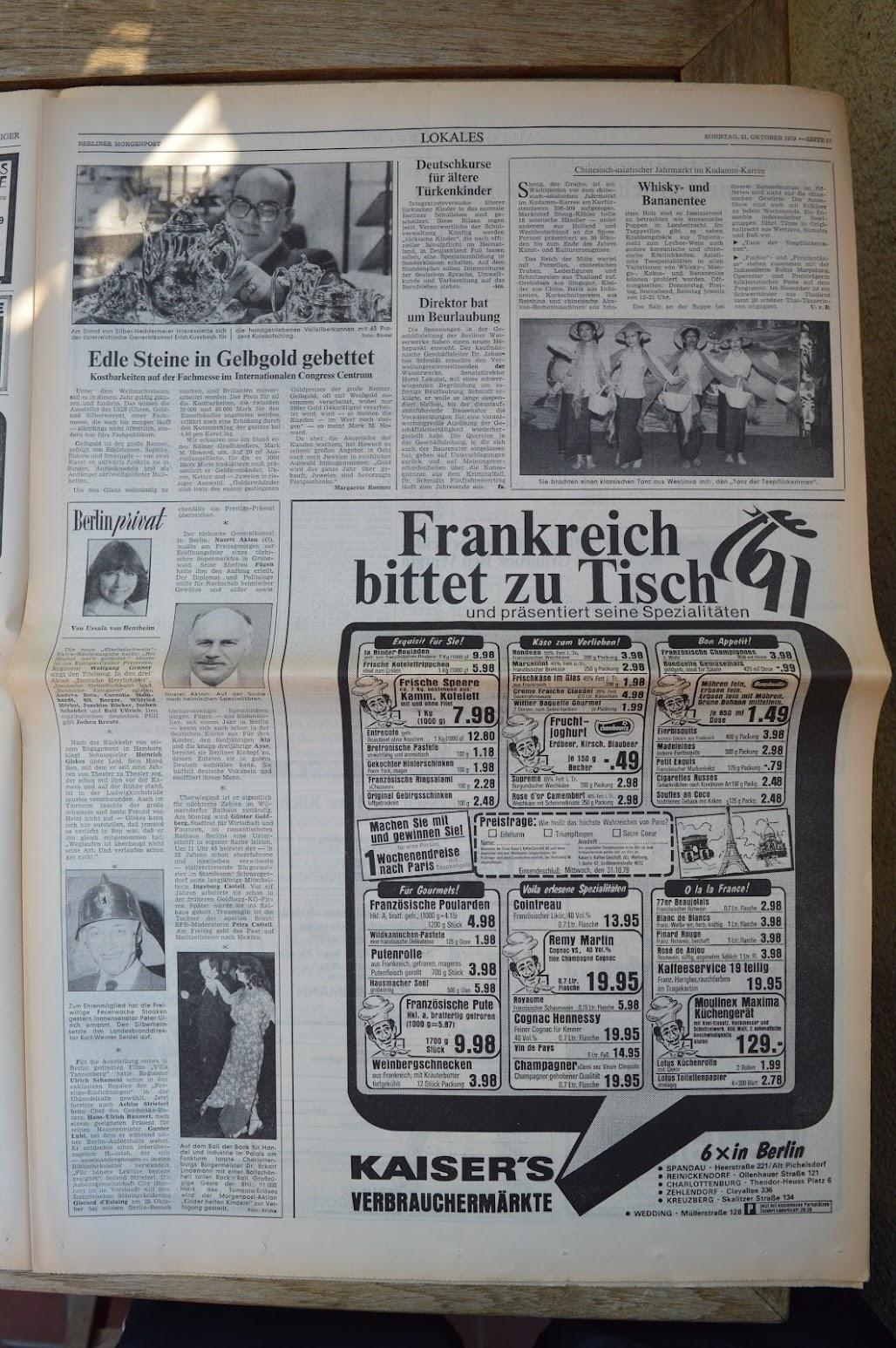 Berliner Morgenpost (West-Berlin) 21.10.1979