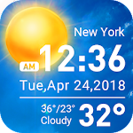 Transparent & clock weather widget 16.1.0.47490