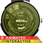 Futuristic GUI Watch Face