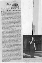 "Photo: ""Miss Brazil USA"" Newspaper article"