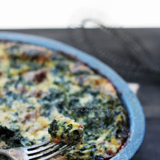 Sausage, Spinach & Feta Frittata – Low Carb and Gluten Free.