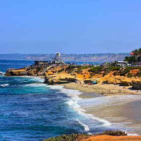 La Jolla  by Rose Smith - Landscapes Beaches ( a, geat, vctions, for, place,  )