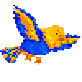 Pixel Art Birds Color By Number