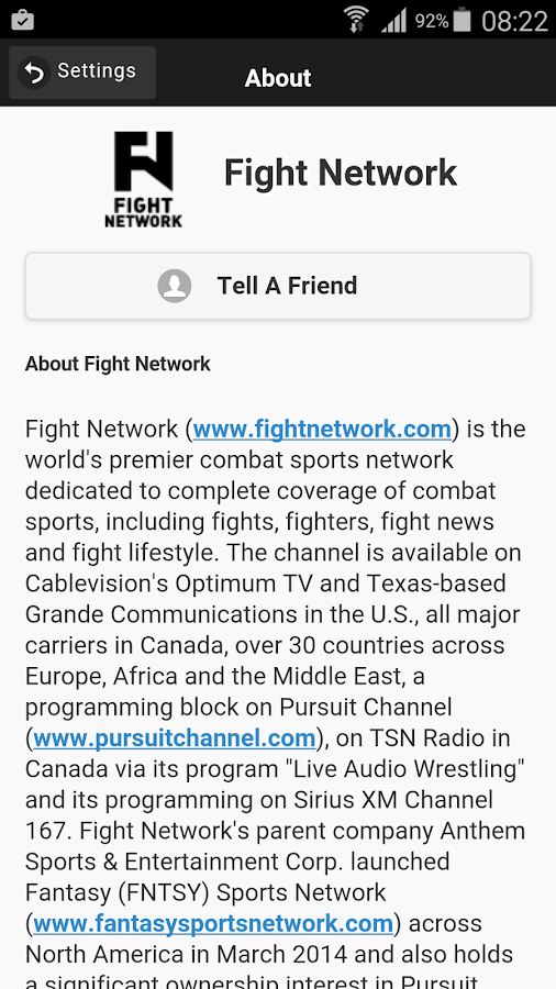 FN Fight Network- screenshot