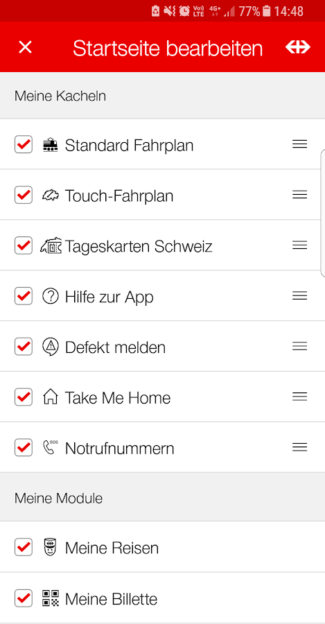 SBB Mobile – Screenshot