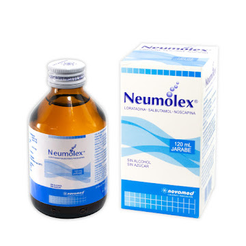 Neumolex Jarabe Frasco   X120Ml Novamed Loratadina Salbutamol Noscapina