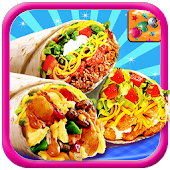 Burrito Maker Fever - Kids Cooking Game