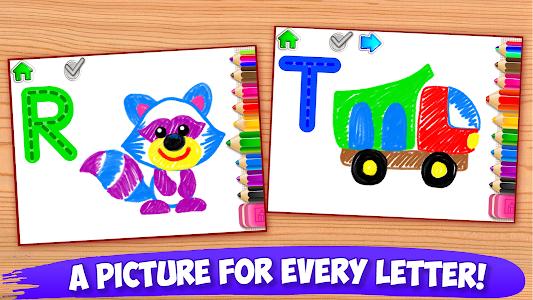 ABC DRAW 🎨 Kids Drawing! Alphabet Games Preschool 이미지[4]