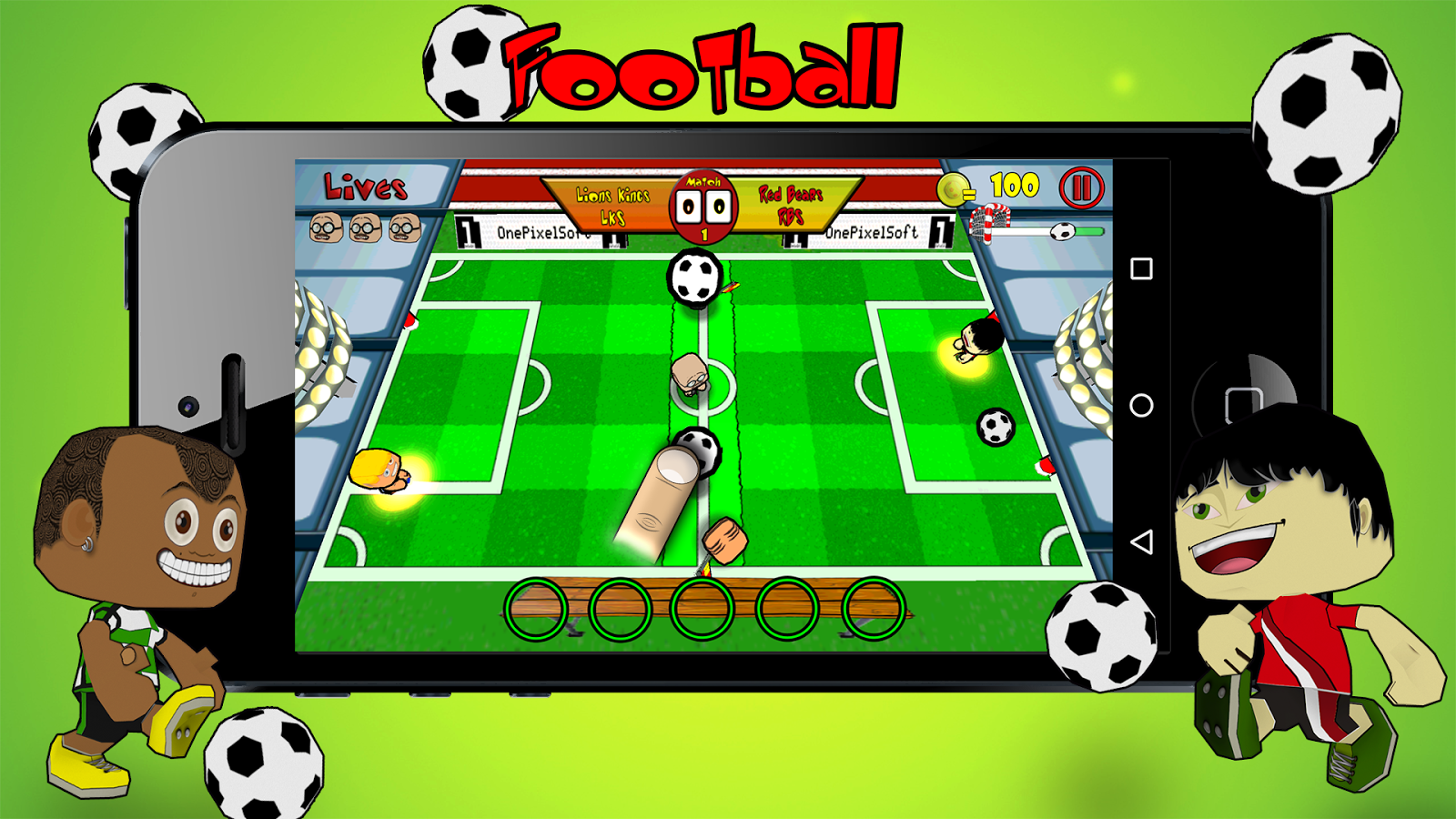 Survival Match Football gratis: captura de pantalla