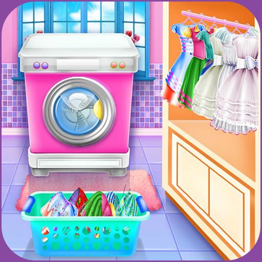 Olivia's washing laundry game Icon