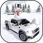 Winter Snow Pickup Truck: Gigantic Cold Hill Drive