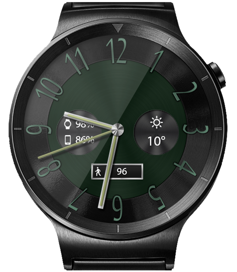 Classic Black HD Watch Face- screenshot