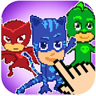 PJ Pixel Hero Masks - Color by Number icon