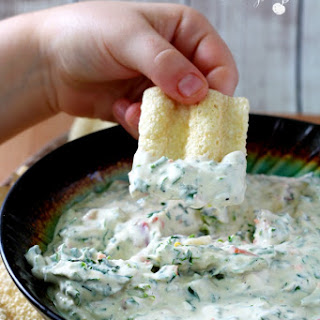 Copycat Trader Joe's Reduced Guilt Spinach & Kale Greek Yogurt Dip.