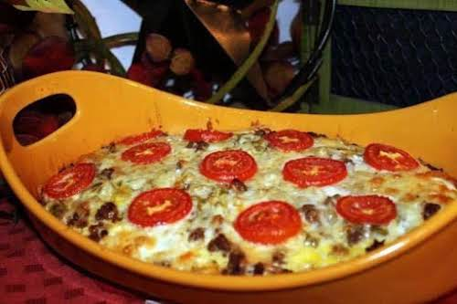 """Texas Two-Step Breakfast Casserole""""I love this recipe because I can make it..."""