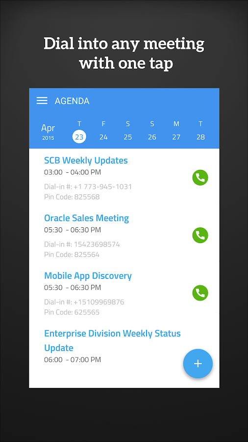 MeetingMogul - Meeting Dialer- screenshot