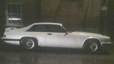 Photo: A passing vehicle providing additional lighting. The alloy crosslace wheels and aerofoil make this an xjr-s LeMans perhaps... http://en.m.wikipedia.org/wiki/Jaguar_XJS