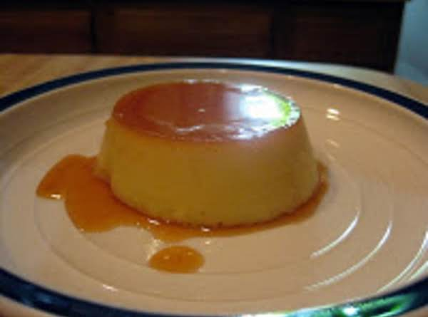 Coconut Custard With Caramel Syrup