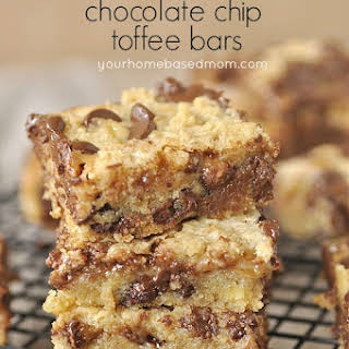 Ooey, Gooey Chocolate Chip And Toffee Bars.