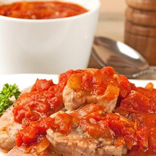 Pan-Seared Pork with Tomato-Orange Sauce